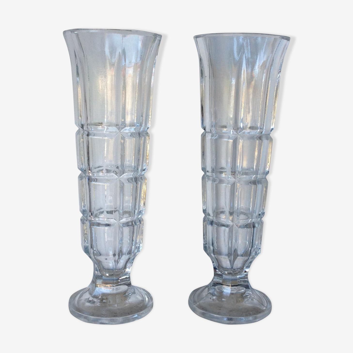 Duo de vases italiens en verre