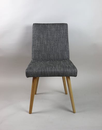 Ensemble de chaises vintage noir et blanc  1970