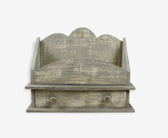 Petit meuble de rangement trieur bureau patine shabby for Petit rangement de bureau