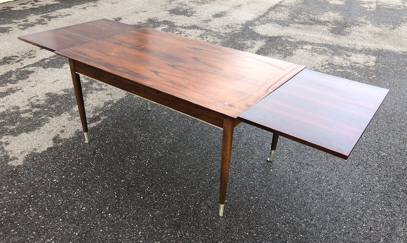 Rosewood table with extensions 1950