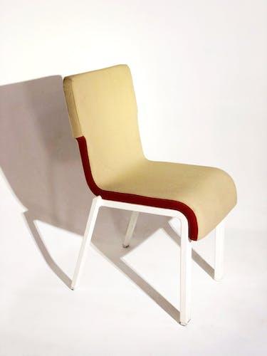Chaise soca tissu bicolore