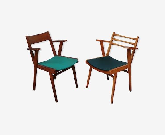 Chaise scandinave vintage pied compas