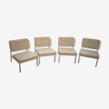 Set of 4 vintage low chairs