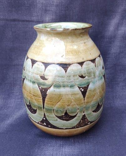 Vase en terre cuite émaillée Roland Moreau tourrettes sur loup
