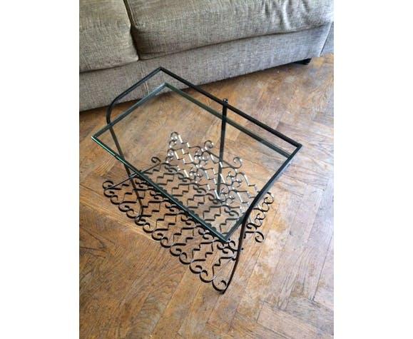 Table porte revue vintage fer forgé