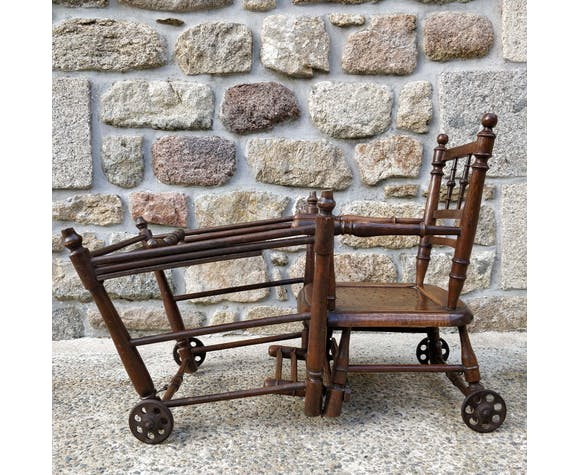 Chaise haute enfant en bois pliante
