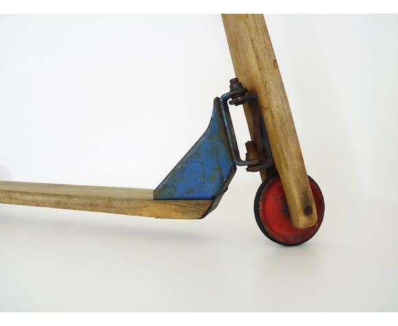 Trottinette vintage en bois des années 60