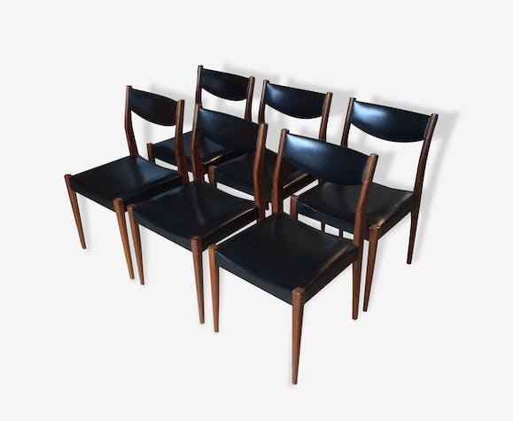 Ensemble de six chaises scandinaves