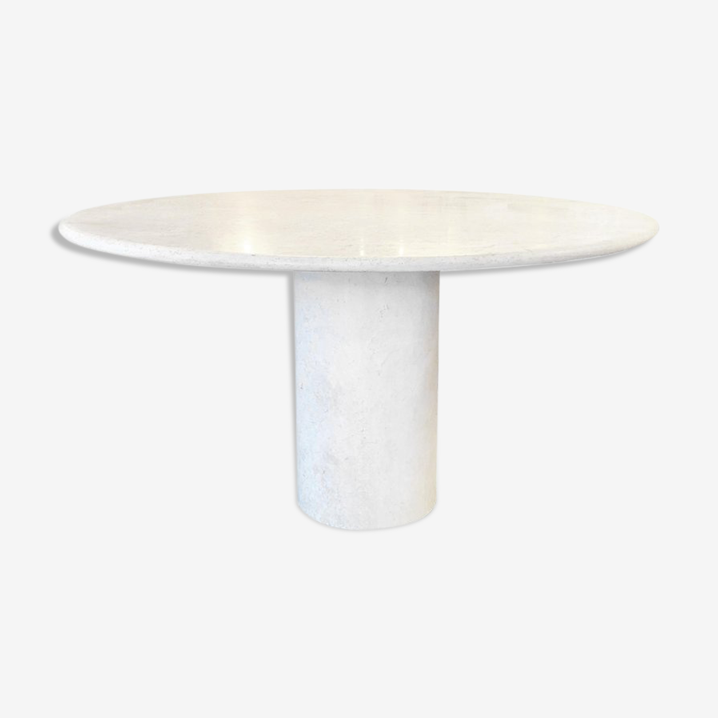 Table de salle à manger en travertine, vers 1970