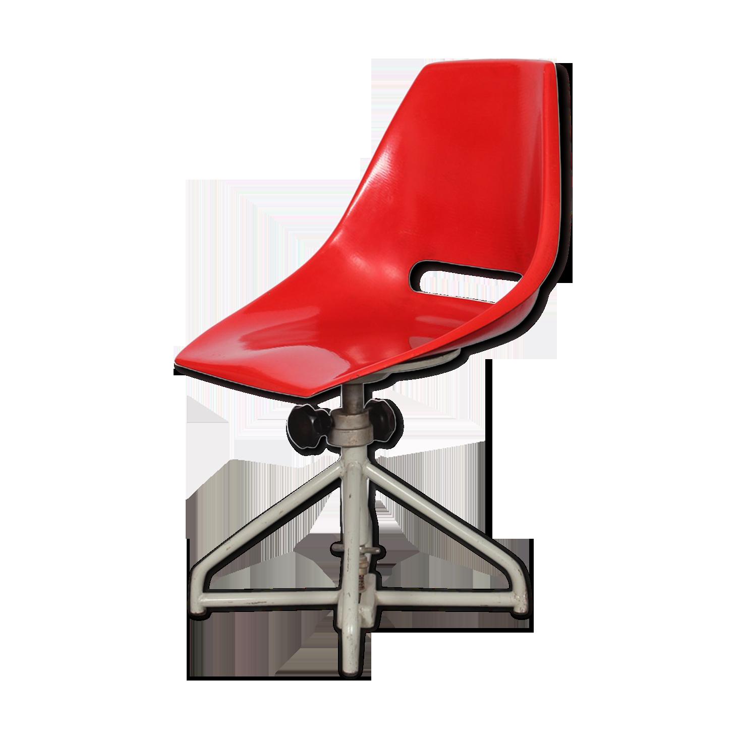 Chaise de bureau par miroslav navratil pour vertex fibre de