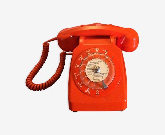 t l phone vintage orange plastique orange vintage x7z9ba2. Black Bedroom Furniture Sets. Home Design Ideas