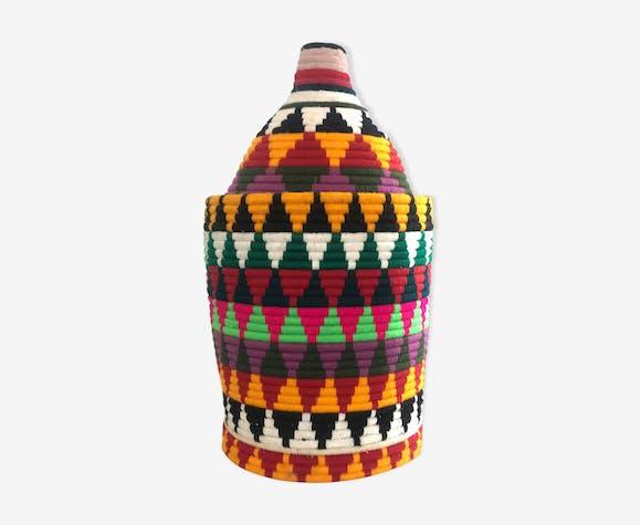 Berber box in multicolor wool