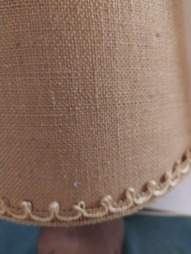 Lampe vintage en cuir et about jour en jute Artesania Raymon