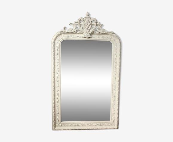 Miroir Louis Philippe à fronton 71x120cm