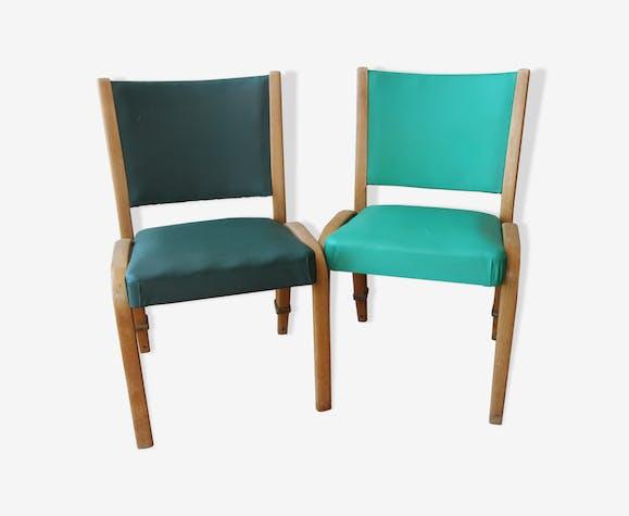 Paire de chaises Steiner modèle Bow-Wood