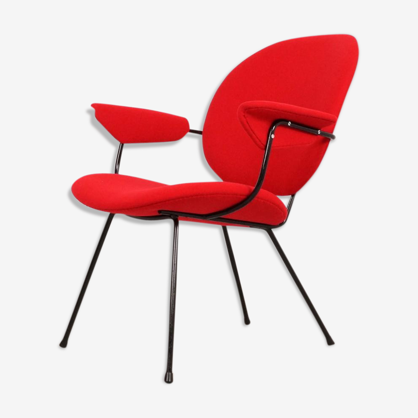 Red Chair by W.H. Gispen for Kembo 1950 s