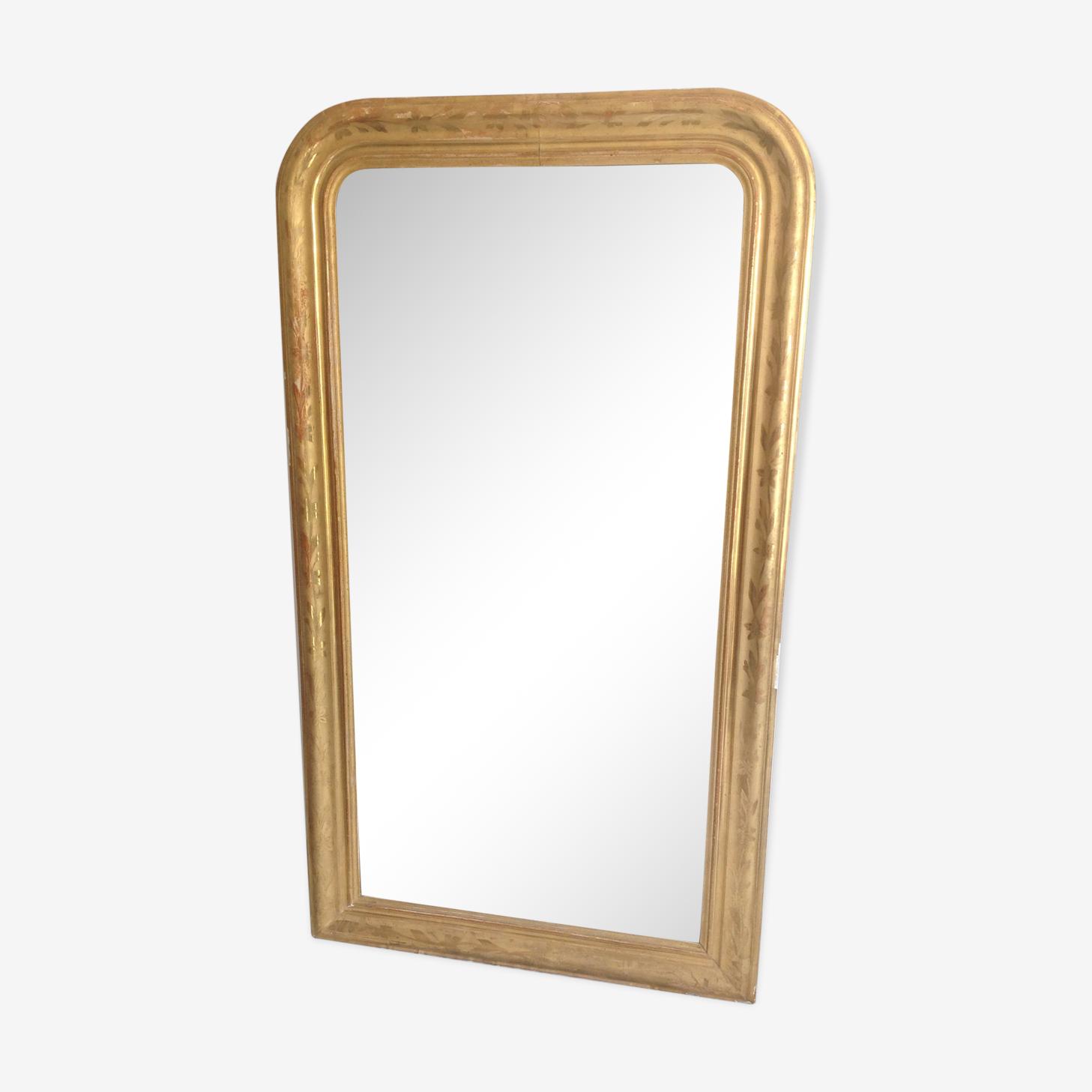 Miroir Louis Philippe doré 158x90cm