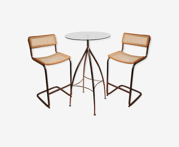 Set Cidue with high stools and high table