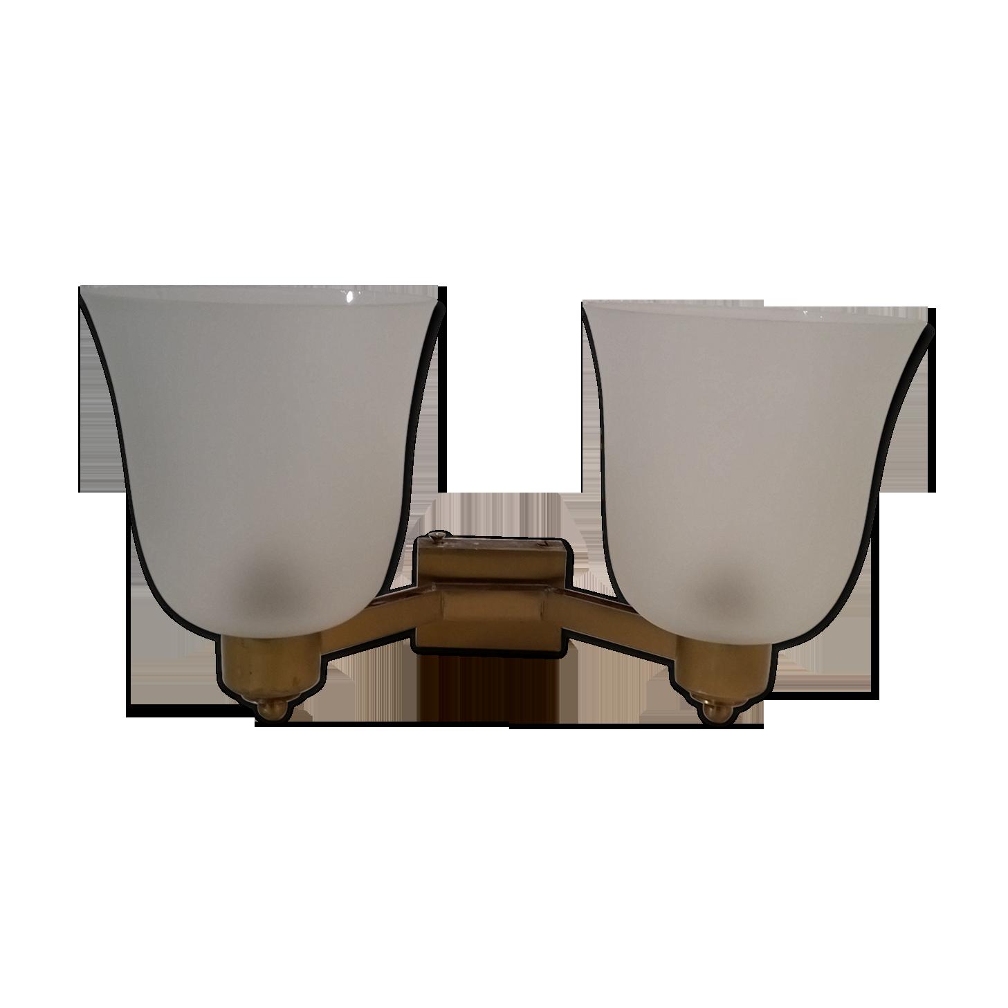 Perzel plafonnier ou applique circulaire structure en laiton doré