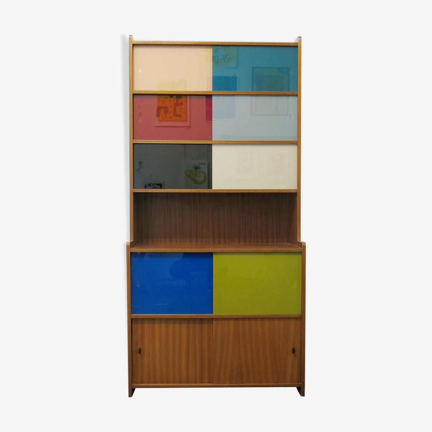 Bibliothèque/meuble de rangement des années 60