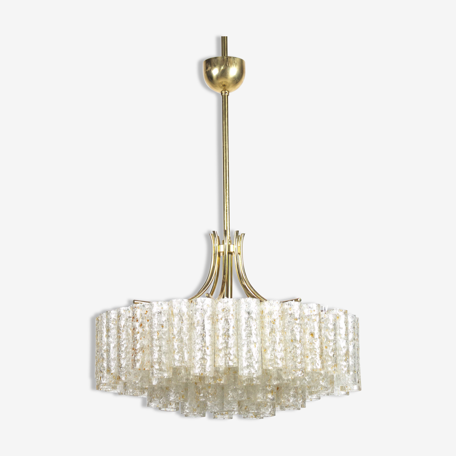 Chandelier, Doria, 4 rows, vintage, 60s complete and cleaned