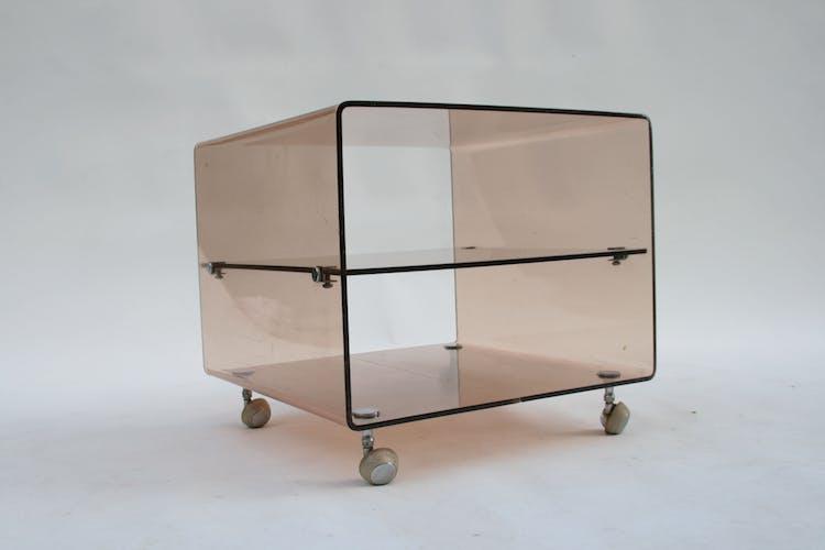 Table d'appoint lucite en plexiglas par Michel Dumas pour Roche Bobois, 1970