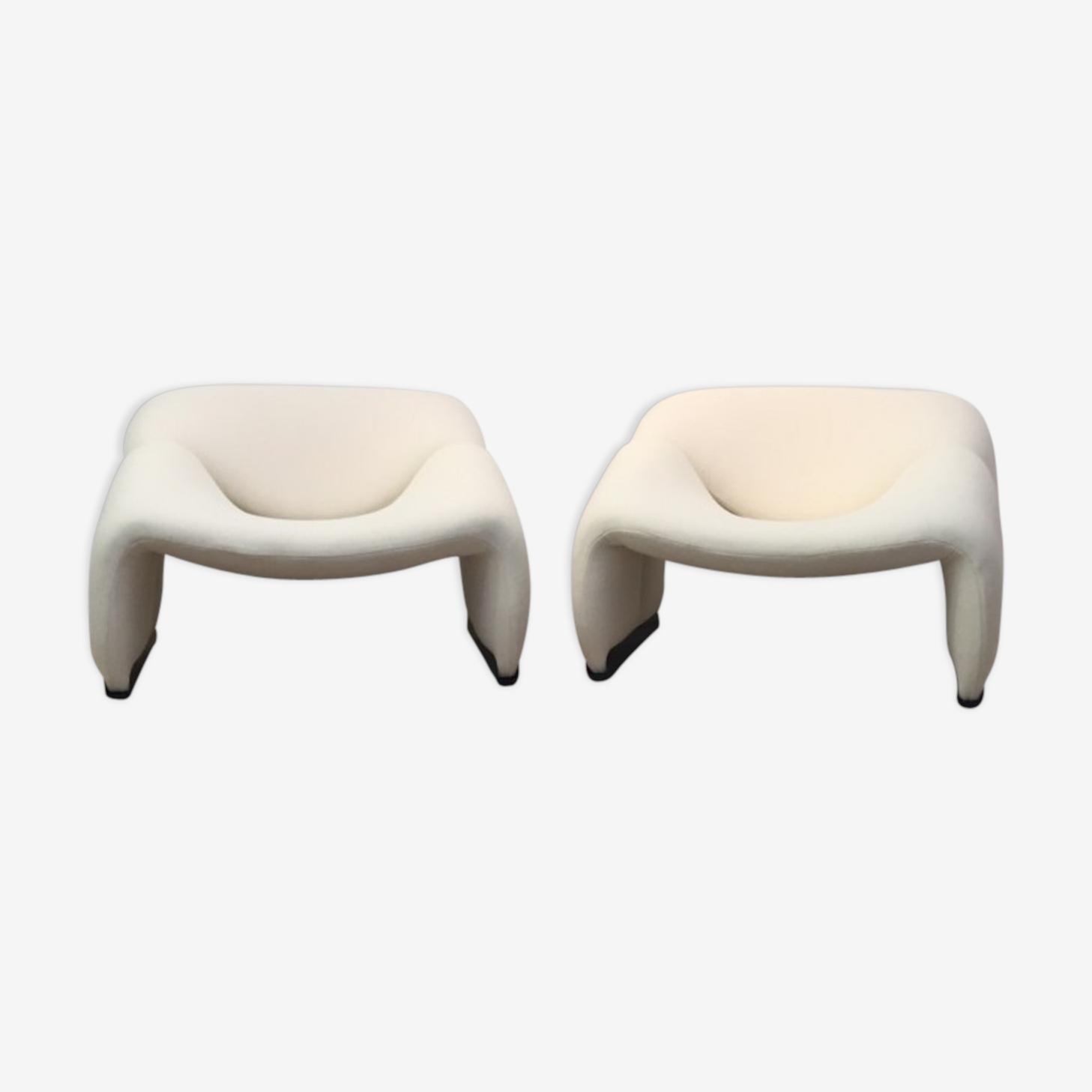 """Paire de fauteuils """"groovy"""" Artifort, Pierre PAULIN - 1970"""