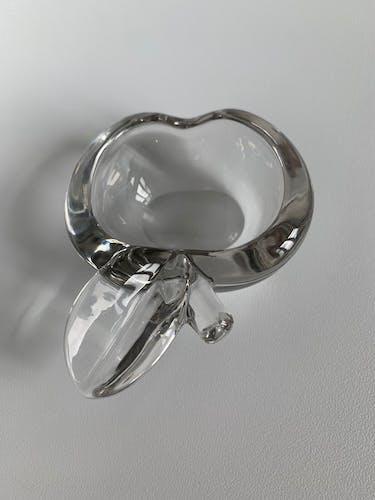 Cendrier vide-poche en cristal pomme