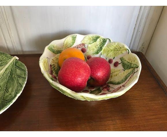 Coupe à fruits en barbotine