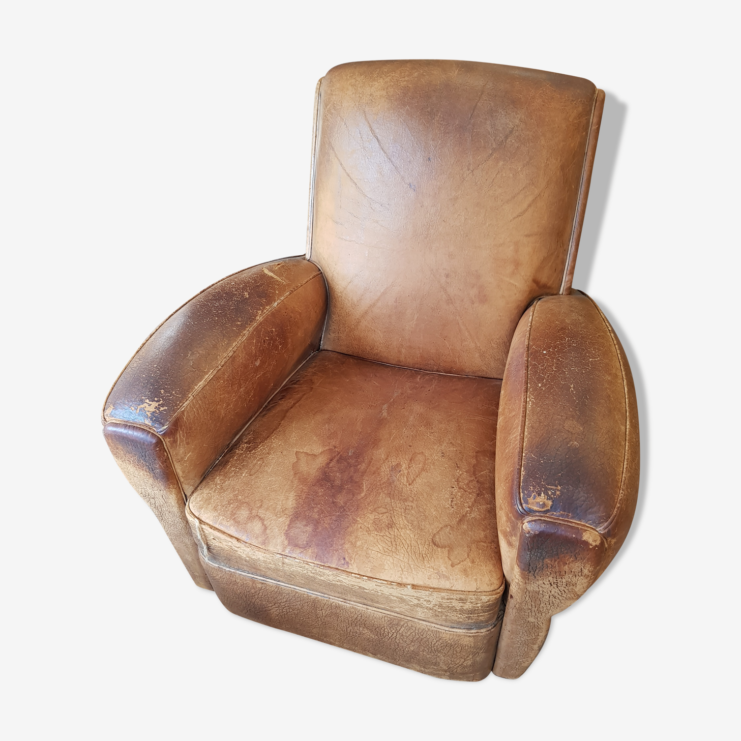Club leather armchair
