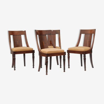 Series of 4 gondola chairs