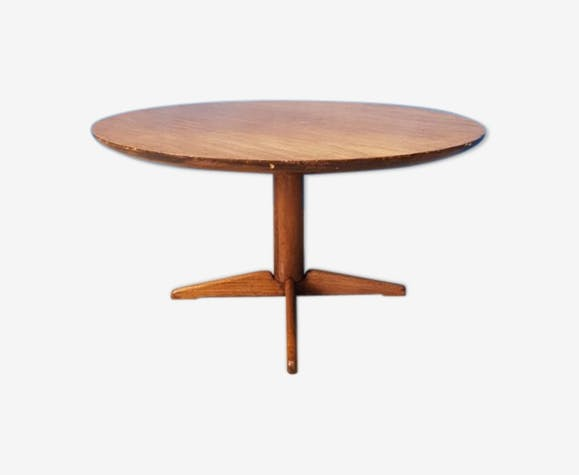 Table basse vintage circulaire Kubus
