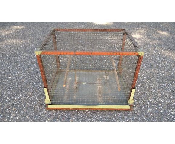 Cage à oiseaux art populaire ancien