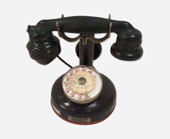 t l phone ancien bak lite colonne bak lite noir art d co thb7oiz. Black Bedroom Furniture Sets. Home Design Ideas