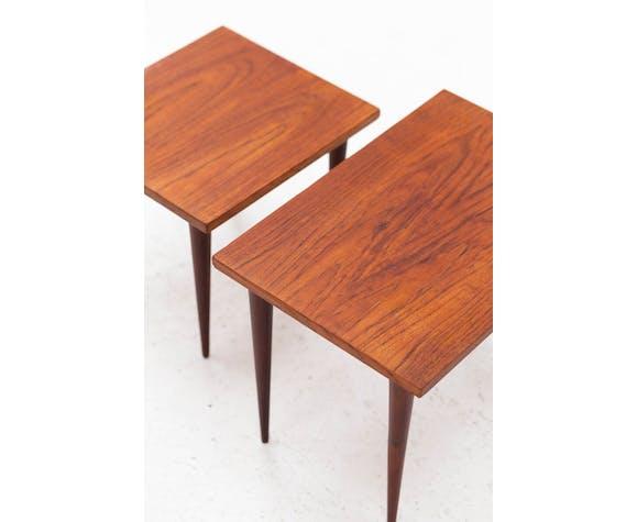 Tables gigognes, design danois, années 1960
