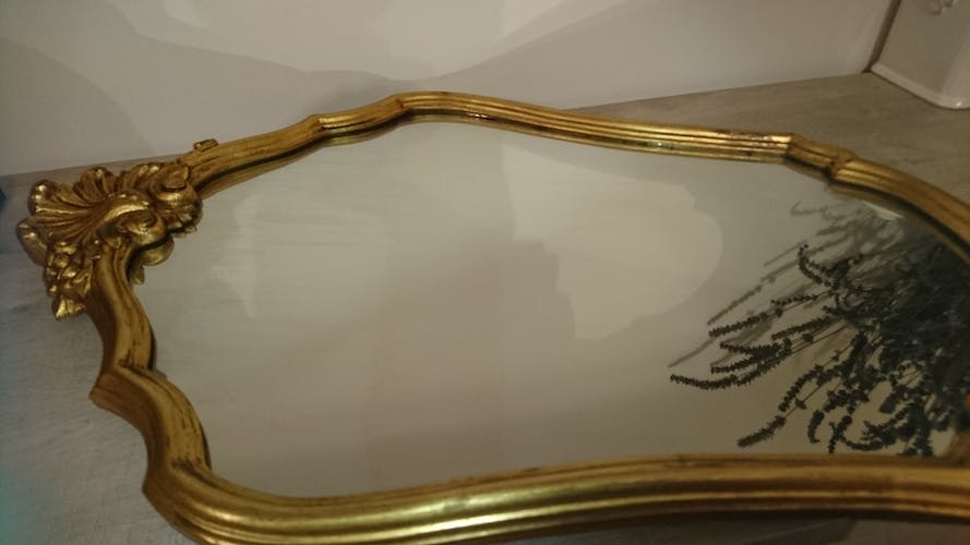 Old gilded wooden mirror - 42x62cm