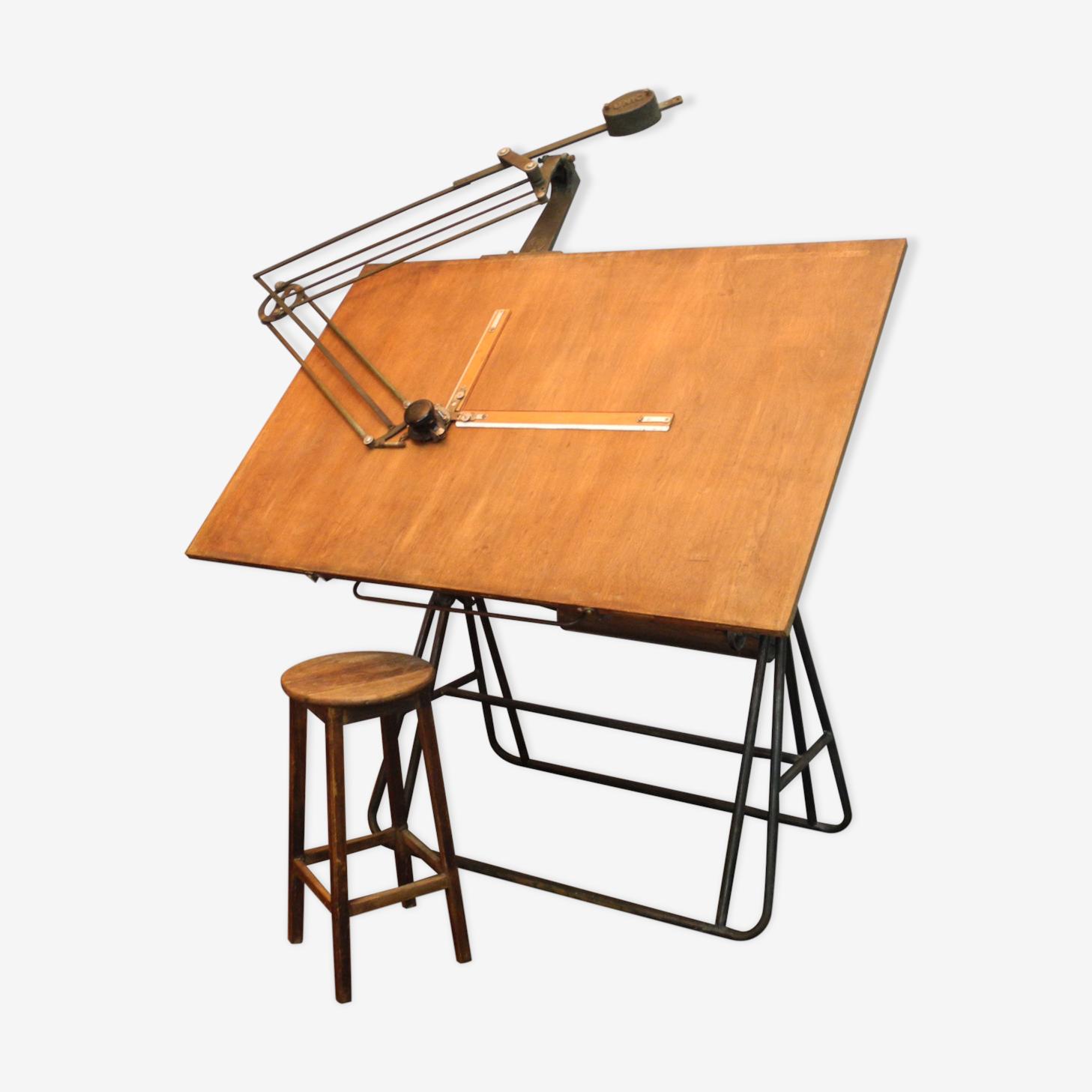 Table D Architecte En Bois ancienne table d'architecte de la marque unique - bois (matériau
