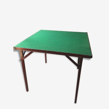 table d 39 appoint bois mat riau vert vintage ajmrn9q. Black Bedroom Furniture Sets. Home Design Ideas