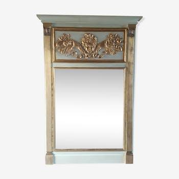 Empire-style trumeau mirror 162x110cm