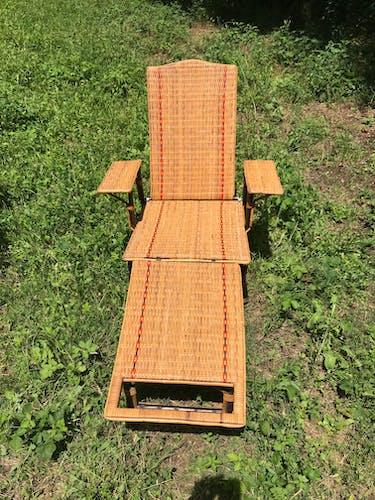Chaise longue en osier