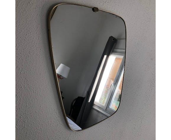 Miroir rétroviseur vintage 1960 59 x 44 cm