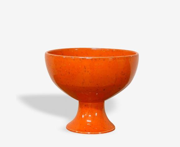 Coupe céramique orange vintage