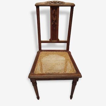 4 chaises en bois avec canage
