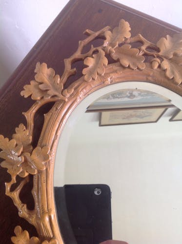 Mirror in carved wood 30x40cm