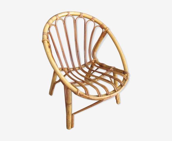 Vintage rattan's chair