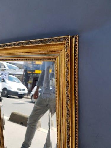 """Miroir doré dit """" d'entre-deux """" - 109x33cm"""