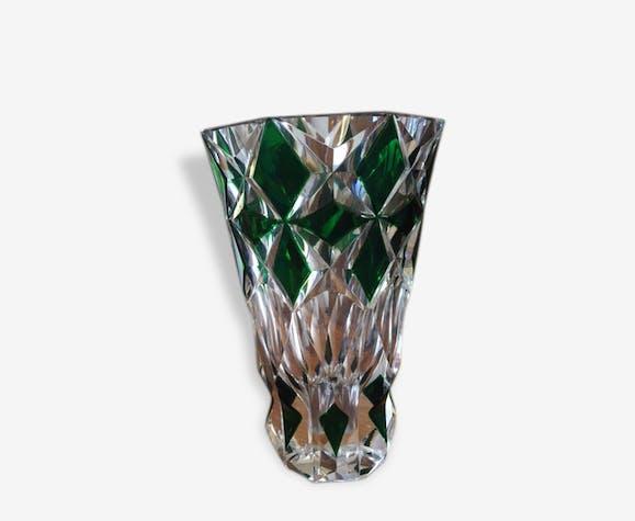 Vase Cristal Taill Verre Et Cristal Vert Classique 142578