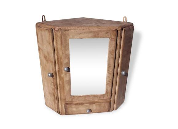 Armoire a pharmacie industrielle bois bois mat riau industriel 31215 - Armoire pharmacie bois ancienne ...