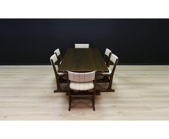 Six chaises Farstrup en chêne des années 60/70