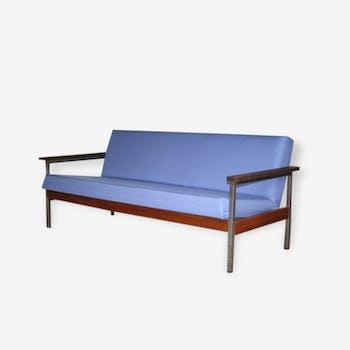 canap togo ligne roset en alcantara 2 places circa 1990 tissu bleu vintage uwgon45. Black Bedroom Furniture Sets. Home Design Ideas